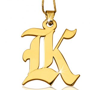 X-Large Gold Plated, Initial Necklace