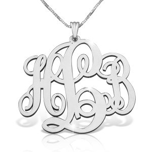 Sterling Silver Classic Monogram: 4 Sizes-0