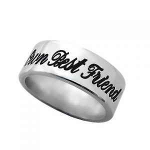 Personalized Phrase Ring Sterling Silver-0