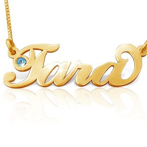 Name Necklace In Gold