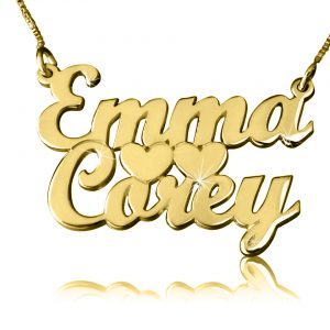Tiers of Love, Gold Name Necklace