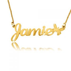 Child Size, Gold Plated Name Necklace
