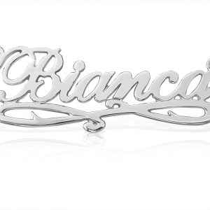 Bianca Style Sterling Silver Name Necklace -0