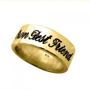 Personalized Band in Solid 14k Yellow Gold
