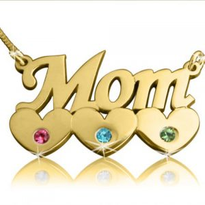 Gold Name Necklace, Mother's Necklace Gold