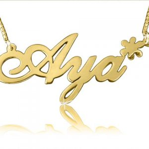 Star Charm Gold Name Necklace