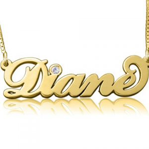 Carrie Diamond, Gold Name Necklace