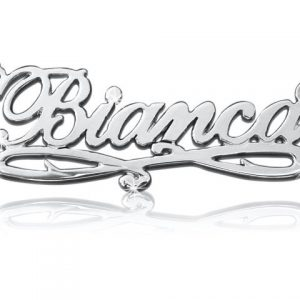 Bianca Style, 14k White Gold Name Necklace