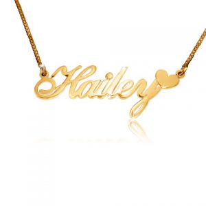 Gold Name Necklace, Gold Necklace With Name