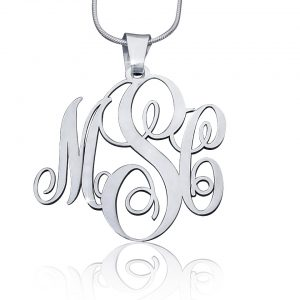 Sterling Silver Small Monogram Necklace