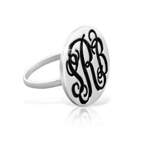Monogram Ring, Monagram Ring