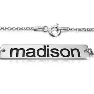 Name Bar Bracelet in Silver