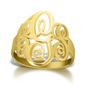 Classic : Monogram Ring : Gold Plated
