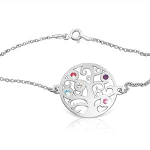 Silver : Tree Of Life Bracelet : Bridesmaid Gift
