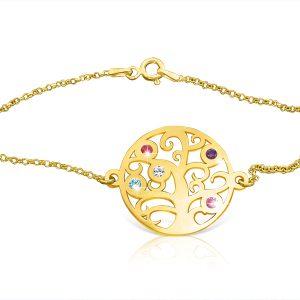 Tree Of Life Bracelet : Gold Plated : Xmas Gift