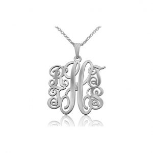 Small 5 Letter, Monogram Necklace